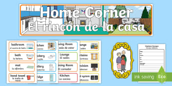 * NEW * Home Corner Role Play Resource Pack - English / Spanish  - Home Corner Role Play Pack - home corner, home, role play, roleplay, houses and homes, house, home,