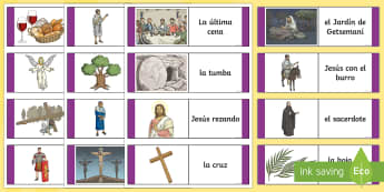 Easter Story Loop Cards - Spring, KS2, Spanish, MFL, Easter, loop, cards, game, story