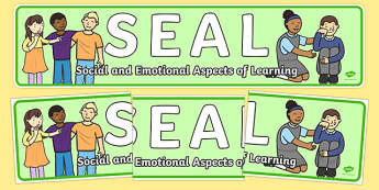 SEAL Display Banner - SEAL, display, banner, sign, poster, social and emotional aspects of learning, Circle time, rules, rule, SEN, behaviour management, PSHE, carpet time, circle, display banner, display, good sitting