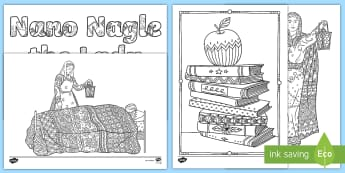 Nano Nagle Mindfulness Colouring Pages - History, Nano Nagle, Lady, Lantern, ,Irish