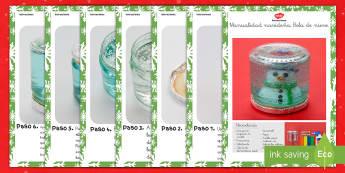 Manualidad navideña: Bola de nieve Instrucciones paso a paso - manualidad, navidad, navidades, bola de nieve, instrucciones,Spanish