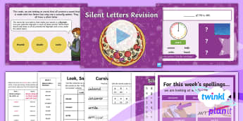 PlanIt Spelling Year 3 Term 3B W5: Silent Letters Revision Spelling Pack - Spellings, Year 3, Term 3B, W5, silent letters, digraph, revision, spelling patterns