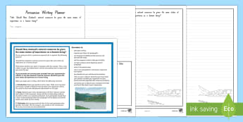 Should New Zealand Natural Resources Be Given the Same Status as Human Beings? Persuasive Writing Activity Sheet - persuasive writing, New Zealand, natural resources, writing, arguments, debates, current event, work