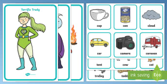Superhero Alliteration Resource Pack - EYFS Phase 1 Aspect 5: Alliteration, letters and sounds, phonics, initial sounds, listen, match, sor