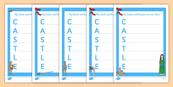 Castle Acrostic Poem - castles, castles and knights, poem, poetry