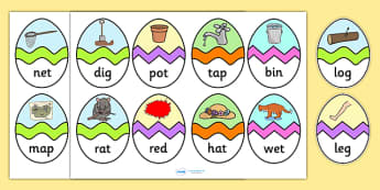 CVC Mixed Words Easter Egg Matching Activity - CVC, easter egg