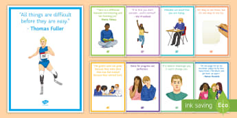 Growth Mindset Posters Display Pack - growth mindset, change mindset, challenge, belief, strength, targets, improve