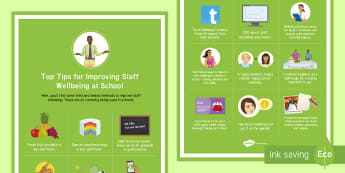 Improving Staff Wellbeing at Your School Top Tips  - Secondary Wellbeing, staff morale, well-being, wellbeing, staff, social
