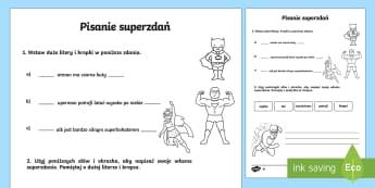 Karty Pisanie superzdań zróżnicowany poziom  - gramatyka,język,składnia, pisanie, zdania, zdań, polski,Polish