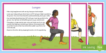 Hockey Cool-Down Stretches Activity Pack - Hockey, cool-down, warm-up, lunges, stretches, quadricep, sumo, Y4, KS2, stretch