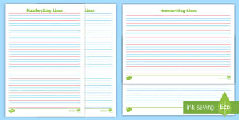 Year 2 Handwriting Lines - English, Literacy, Australian, Year 2, Handwriting Practice, Blue And Red Lines, Blue Thirds, Writin
