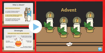 KS1 Advent PowerPoint - Christmas, Nativity, Jesus, xmas, Xmas, Father Christmas, Santa, advent, advent calendar