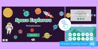 Space Explorers: Times Tables Game, Twinkl Go, twinkl go, TwinklGo, twinklgo