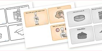 Pat-a-Cake Sequencing (4 per A4) - Pat-a-Cake, sequencing, nursery rhyme, rhyme, rhyming, nursery rhyme story, nursery rhymes, clapping rhyme, Pat-a-Cake resources