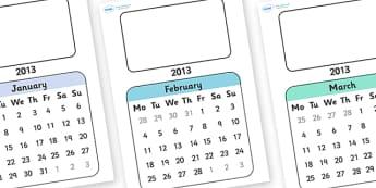 Editable 2013 Flip Calendar - calendar, editable calendar, flip calendar, editable flip calendar, months of the year, display calendar, display, display poster, poster, the year, 2013, 2013 calendar