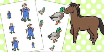 Farmer and Duck Size Ordering - farmer duck, size ordering, size ordering actvity, ordering activity, themed ordering activity, size ahd shape, size, arranging