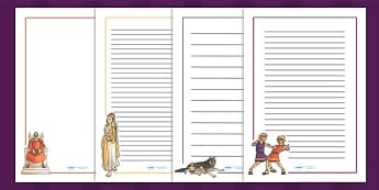 Romulus and Remus Page Borders - romans, roman, rome, writing aid