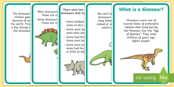 Dinosaur Fact Display Posters - dinosaur, dinosaur facts, display, poster, sign, whats a dinosaur, herbivores, carbivores
