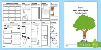 Year 2 Read and Respond Activity Sheets - worksheets, Y2, comprehension, understanding, home readers, consolidation, questioning