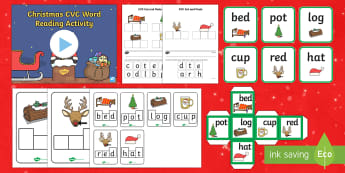 Christmas CVC Words Activity Pack