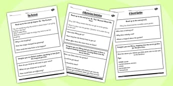 The Secret Garden Challenge Activity Worksheets - challenge