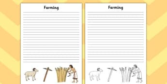Ancient Sumer Farming Writing Frame - sumer, farming, frame