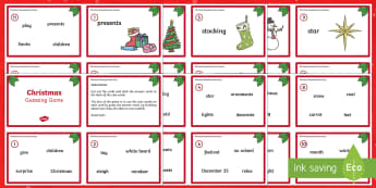 Christmas Guessing Game - Christmas USA, inference, guessing, vocabulary, game