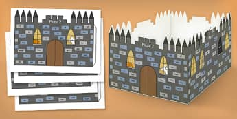 High Frequency Words Scary 3D Castle Visual Aid - visual aid, 3d
