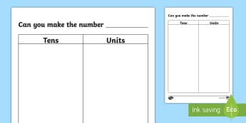 Tens and Units Activity Mat - NI, KS1, Numeracy, practical maths, tens and units mat, manipulatives, unifix, multilink, multi-link