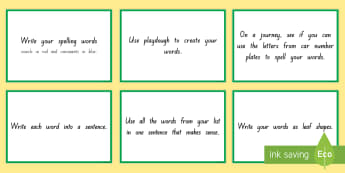 New Zealand Spelling Home Learning Flashcards - New Zealand Spelling Home Learning Flashcards - NZ Literacy Resources, spelling, spello, home learni