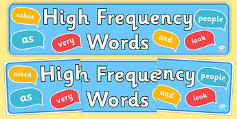 High Frequency Words Banner - High frequency words, hfw, banner, DfES Letters and Sounds, Letters and Sounds, display words, poster, sign, display