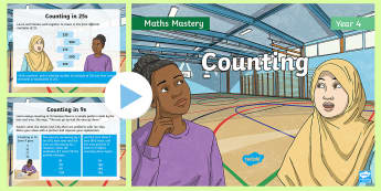 Year 4 Counting Maths Mastery PowerPoint - Reasoning, Greater Depth, Abstract, Modelling, Representation, Problem Solving, Explanation