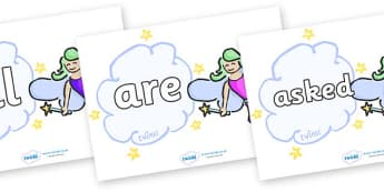 Tricky Words on Fairies (Multicolour) - Tricky words, DfES Letters and Sounds, Letters and sounds, display, words