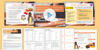 My Studies and Life at School and College Lesson 6: School Problems French - education, learning, lessons, issues, rules, points of view,French