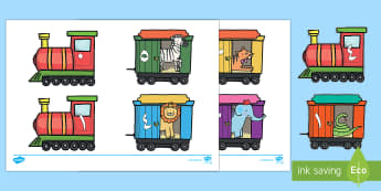 مكونات العدد 5 على قطارات وعربات - العدد 5، مكونات العدد، مكونات الأعداد، حساب، الأعداد،