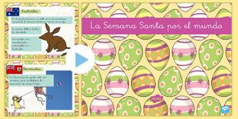 Presentación: La Semana Santa por el mundo - semana santa, powerpoint, power point, presentación, Pascua, cultura, otros países, festivo, festi