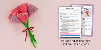 Paper Doily Flowers Craft EYFS Adult Input Plan And Resource Pack