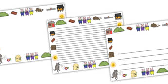 The Three Little Pigs Page Borders (Landscape) - page border, border, frame, writing frame, traditional tales, three little pigs, three little pigs borders, three little pigs landscape borders, writing template, writing aid, writing, A4 page, page ed
