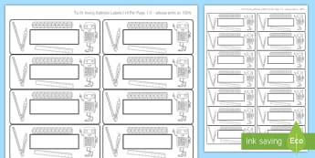 Etiquetas de nombres temáticas - matemáticas - etiqueta, letrero, nombre, matemáticas