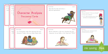 Character Analysis Discussion Cards - Reading, Literature, RL3.3, R.L.3.3, Character Traits, Character description, reading response, book