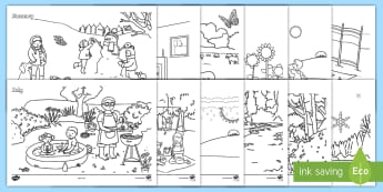 Months of the Year Colouring Pages - Months of the Year Activity Pack - months, year, activity, pack, months of the yearenglish