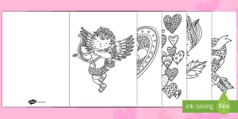 Valentines Day Mindfulness Coloring Greeting Cards - Valentines Day Mindfulness Coloring Greeting Cards  - valentines day, mindfulness colouring, mindful