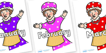 Months of the Year on Punch & Judy - Months of the Year, Months poster, Months display, display, poster, frieze, Months, month, January, February, March, April, May, June, July, August, September