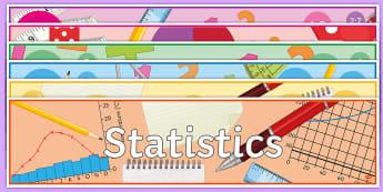 Maths Topics Display Lettering - New Curriculum, subjects, KS3, KS4, GCSE, headings,