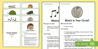 Forest School Activities Challenge Cards - Forest School Acitivities Challenge Cards - forest school, forest schools, outdoor activities, outsi