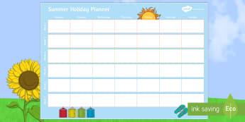 Summer Holiday Calendar Plan - Summer Holiday Calendar Plan - holiday, summer, events, dates, calendar, planner, planning, topical,