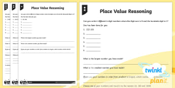PlanIt Maths Y5 Number and Place Value Reasoning Home Learning Tasks