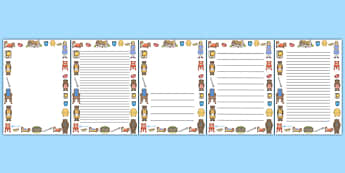 Goldilocks and the Three Bears Full Page Borders - page border, border, frame, writing frame, goldilocks and the three bears, goldilocks writing frames, goldilocks page borders, writing template, writing aid, writing, A4 page, page edge, writing acti