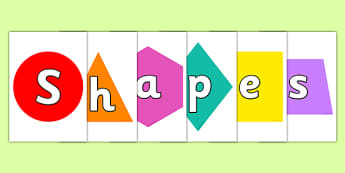 Shapes on Shapes Display Cut Outs - shape, shapes, cutout, number, Shapes, display, circle, triangle, hexagon, diamond, square, trapeze