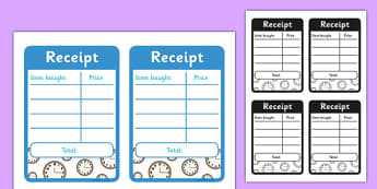 Clock Shop Role Play Receipts - clock shop, role play, clock, shop, roleplay, receipts